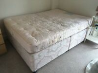 Divan double bed with mattress