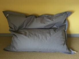 Large Bean Bag cushions x 2 from Made Com. Brand new in original packaging. £45 each or £80 the pair