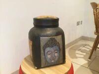 Budha vintage looking storage pot/ decorative item