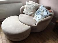 Comfy 2 person swivel chair