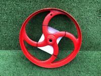 Powder Coated Garden Ornament Red Gloss Flywheel