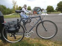 Ridgeback Velocity 24speed Fast City Bike Large 21'' Aluminium Frame SchwalbeMarathon Tyres Panniers