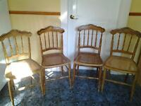 1860's Antique Cottage Chairs