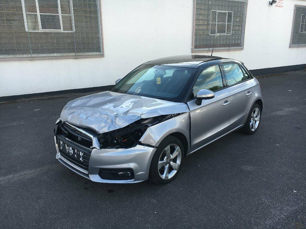 2015 65 audi a1 sport 1 0 tfsi s automatic silver damaged. Black Bedroom Furniture Sets. Home Design Ideas