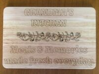Personalised Chopping Board - Laser Engraved - Serving Platter - Gift - Present