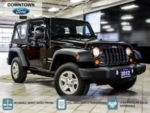 2012 Jeep Wrangler Sport, 4x4, Low Mileage, Car Proof Verified