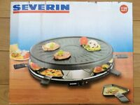 Severin Party Grill with 8 Mini Pans, Black (New in box)