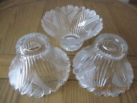 Cut Glass Lampshades x 3 in perfect condition