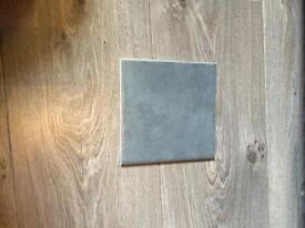 Grey ceramic tile job lot X 32