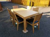 New Bently Designs Oak Dining Table & 6 Chairs FREE DELIVERY 402a