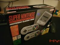 SNES Mini Classic - 2 controllers - 20games - brand new