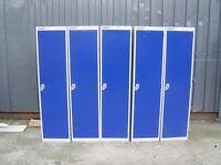 Blue metal Locker Lockers By Helmsman 1 Door with lock and key 8 for sale