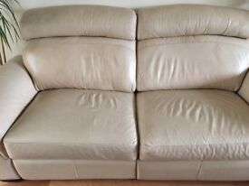 2 Leather lee Longlands Sofas X2 with 4 Electric recliners