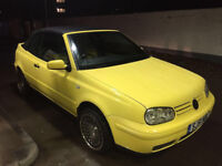 VOLKSWAGEN GOLF 2.0 GTi COLOUR CONCEPT CONVERTIBLE AUTO 2002 ON A 51 VERY RARE ONLY 49 REGISTERED