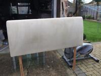 Headboard king size faux suede
