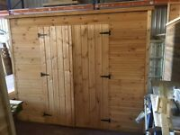 PREMIUM TIMBER 8' X 4' GARDEN SHED (MOBILITY) DOUBLE DOORS