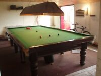 Snooker Table, full-size (12ft.6ins x 6ft.6ins) Playable but needs some restoration