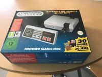 New all boxed mini Nintendo classic with 30 games bargain £45