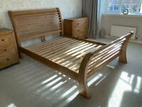 King Size Oak Bed and furniture