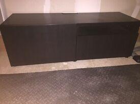 Dark brown TV unit