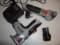 NEW. Tool Kit ,10.8v Multi Tool, Nailer and Multi Saw [Jigsaw/Recip Saw] Two Batteries. NEW.