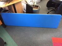 5 Blue Acoustic Desk Dividers perfect for Call Centres