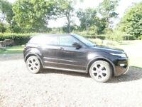 Range Rover Evoque 2.2 SD4 Dynamic LUX 63 Reg Black/Tan leather panaromic sunroof hugh spec