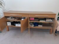 IKEA SIDEBOARD with 2 shelves & 2 drawers. Excellent condition, fully assembled.