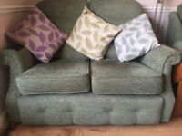 GP Pan : two seater sofa with 2 matching armchairs, green colour,