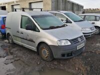 Volkswagen caddy diesel 2005 year parts bonnet bumper radiator engine gearbox door wheel