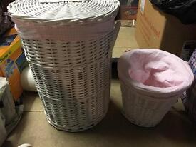 Girls nursery set- laundry basket, bin, change may etc