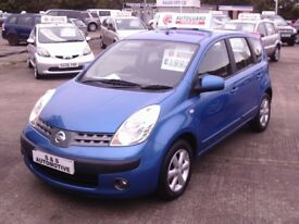 NISSAN NOTE SE 5 DOOR MPV 12 MONTHS M.O.T DRIVE AWAY TODAY (FINANCE AVAILABLE)