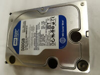 4x 3.5 500GB WD RE3 Enterprise Hard Drives Second hand