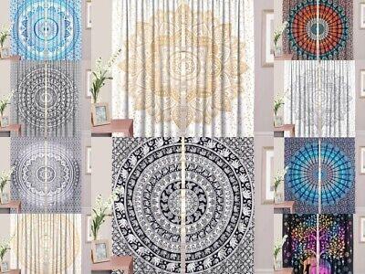 Hippie Indian Mandala Fenster Vorhang Balkon Room Decor Türverkleidungen Werfen - Baumwolle Indian Werfen