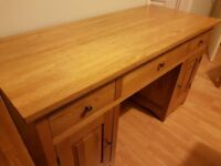 Solid Oak Cairo Computer Desk (Oak Funiture Land) - Good Condition, Collection Only