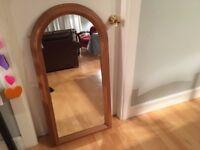 Arched mirror, heavy