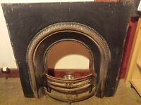Antique early victorian cast iron fire insert . Can deliver