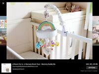 Beauitful unisex marks and Spencer's musical cot mobile curtains and more.
