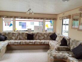 BARGAIN SPACIOUS 8 BERTH FAMILY HOLIDAY HOME STATIC CARAVAN FOR SALE ESSEX COAST FEES INCLUDED