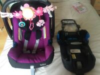 Britax BabySafe car seat and belted base