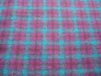 Pink and teal sewing material
