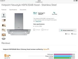 Bargain!!! Hotpoint Cooker Hood- HDF6.5SA