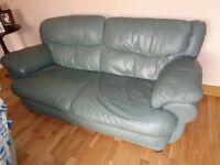 leather settee/sofa