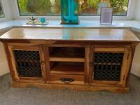Jali Wooden TV Cabinet