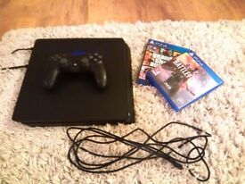 Playstation 4 slim 500gb One controller + GTA 5 + Battlefield 1