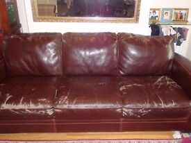 A 2 seater and a 3 seater sofa with covers from Furniture Village. Has scuff marks