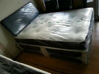 BRAND NEW King size beds with memory foam & orthopaedic mattresses, king size £ 129, double £ 99