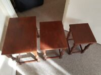 3 set of tables - solid wood