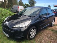 Peugeot 207 1.4 S Black with Black & Grey Interior Only 60,000 Miles EXCELLENT CONDITION