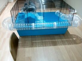 Hamster Cage, Hamster Ball and bedding/food